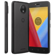 Smartphone Motorola Moto C Plus Quad Core 8GB Preto Dual Chip 4G Câmera 8MP Tela 5 ´ HD XT1726