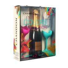 Kit Chandon Colors Collection com Garrafa + 2 Taças Exclusivas