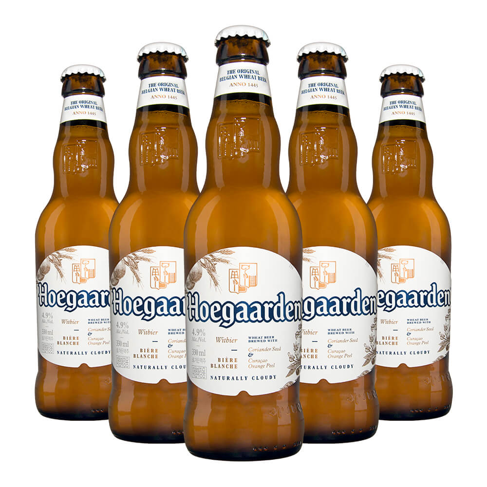 Cerveja Hoegaarden com  5 Garrafas