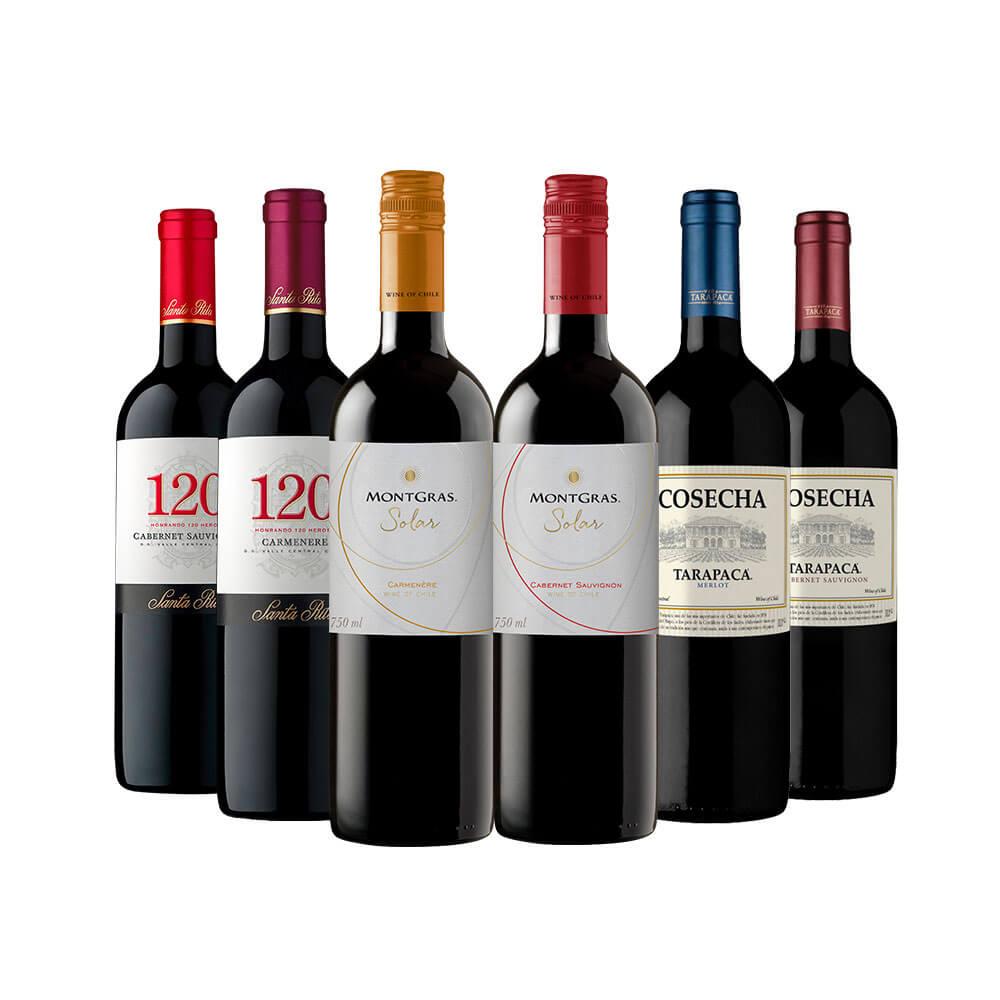 Kit Chile Renomados em 6 garrafas