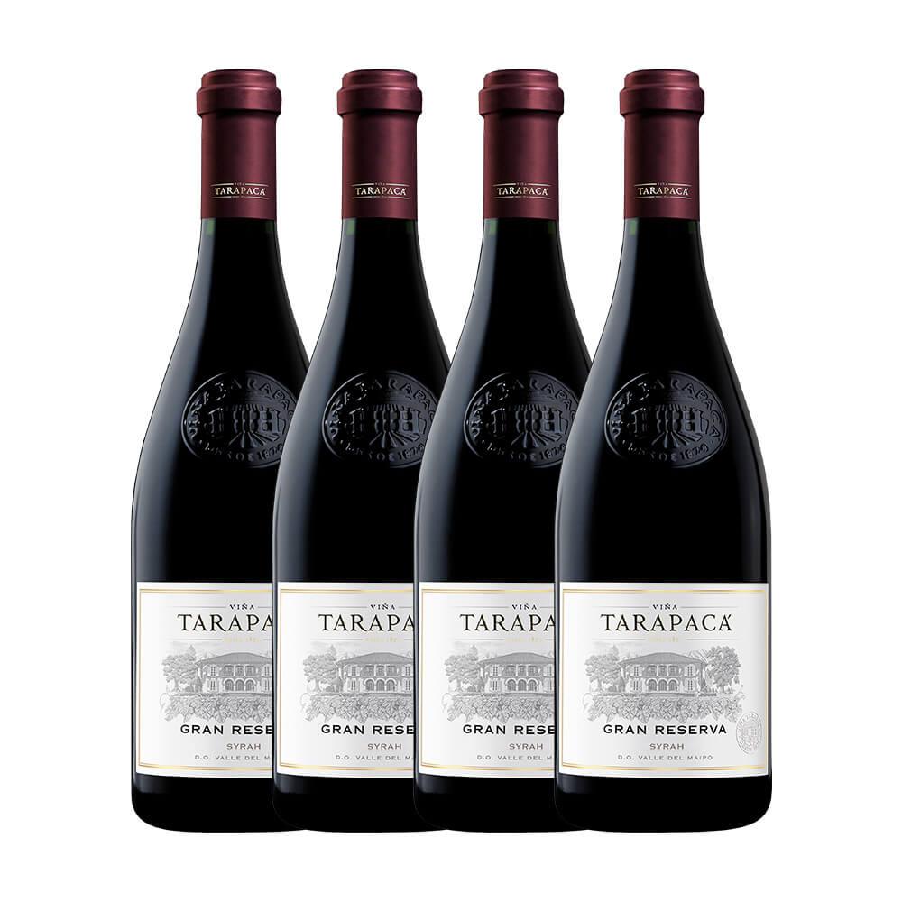 Kit Tarapacá Gran Reserva Syrah com 4 garrafas