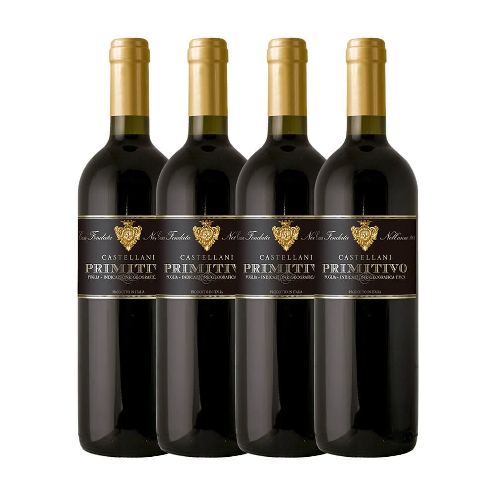 Castellani Primitivo com 4 garrafas