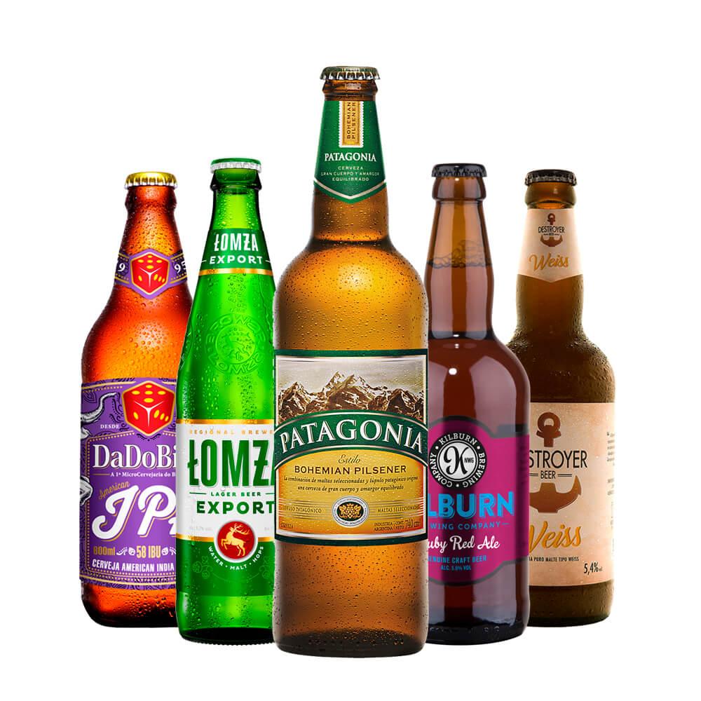 Kit Cervejeiro com 5 garrafas