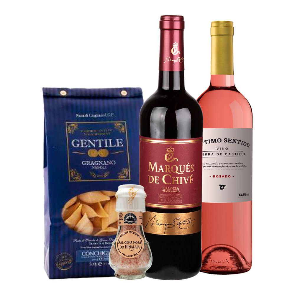 Kit Massas e Vinhos